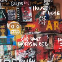 Paints words in red